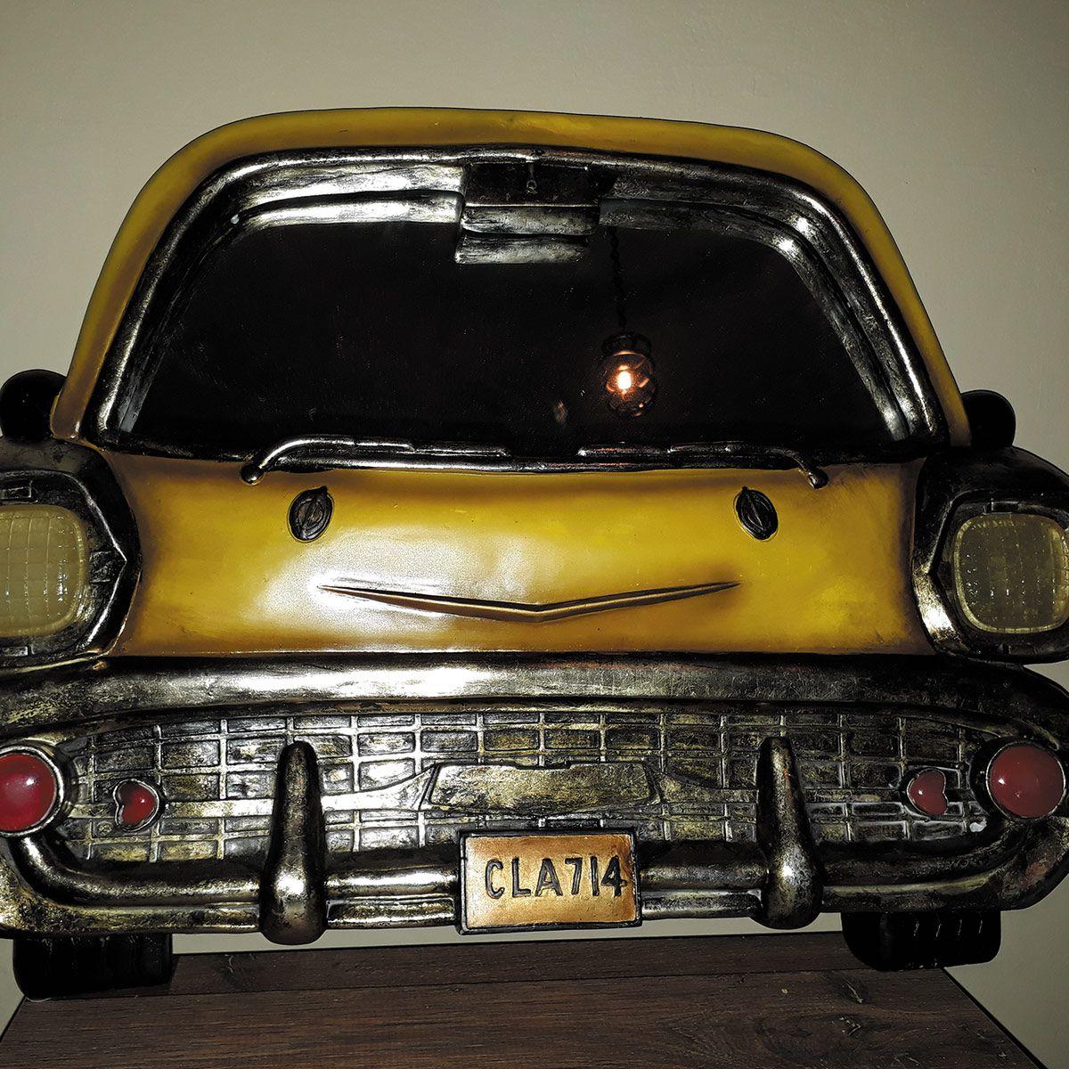 Espelho de Carro Pura Nostalgia cor Amarelo placa CLA-714