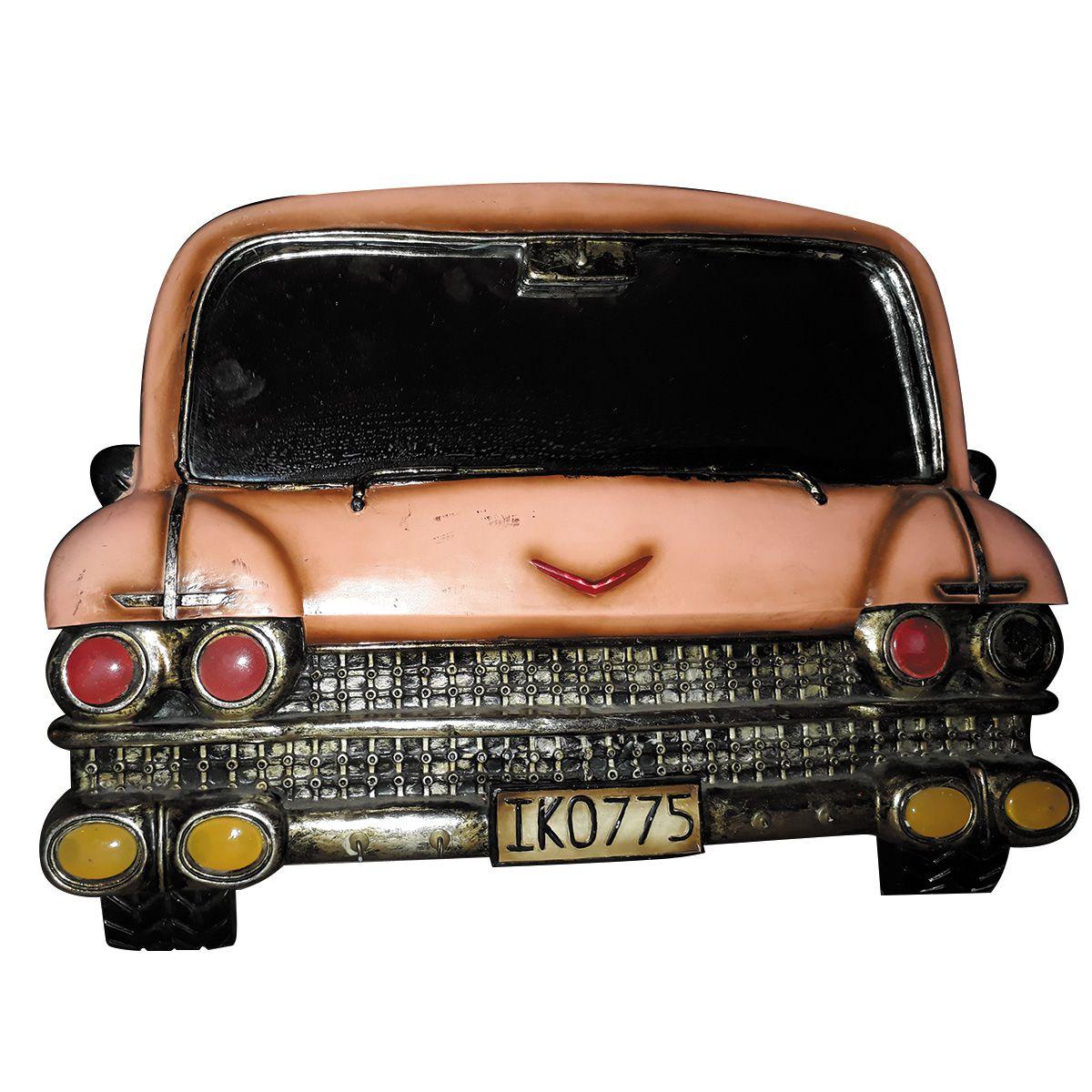 Espelho de Carro Pura Nostalgia cor Rosa placa IKO-775