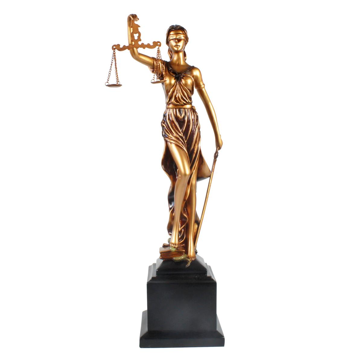 Estátua Deusa Têmis 55cm Dama Da Justiça Símbolo Do Direito
