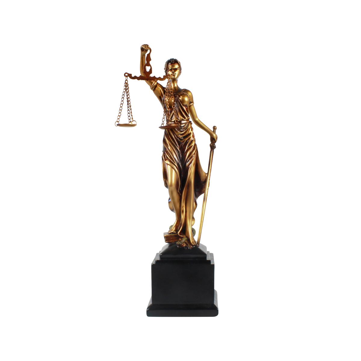 Estátua Deusa Têmis 34cm Dama Da Justiça Símbolo Do Direito