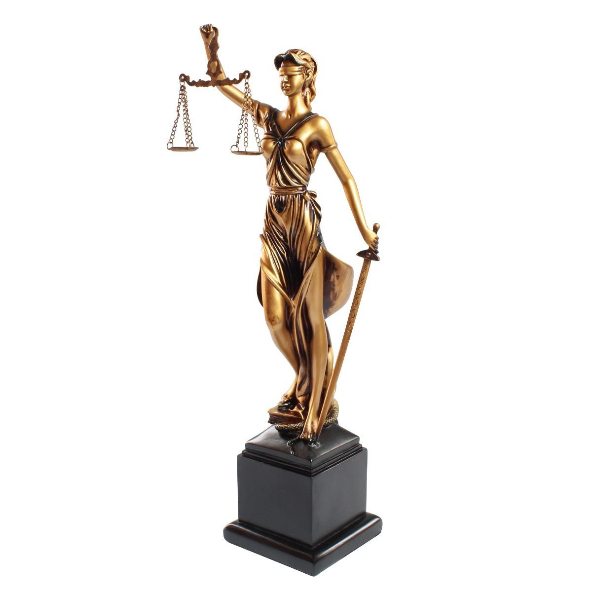 Estátua Deusa Têmis 46 cm Dama Da Justiça Símbolo Do Direito