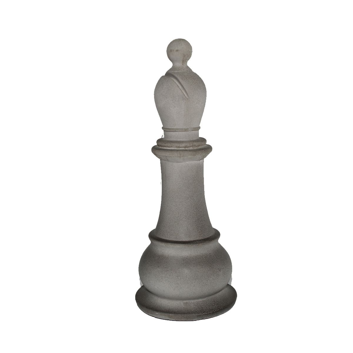 Estatua p/ Decoração Xadrez Chess Bispo de Cimento 23 cm