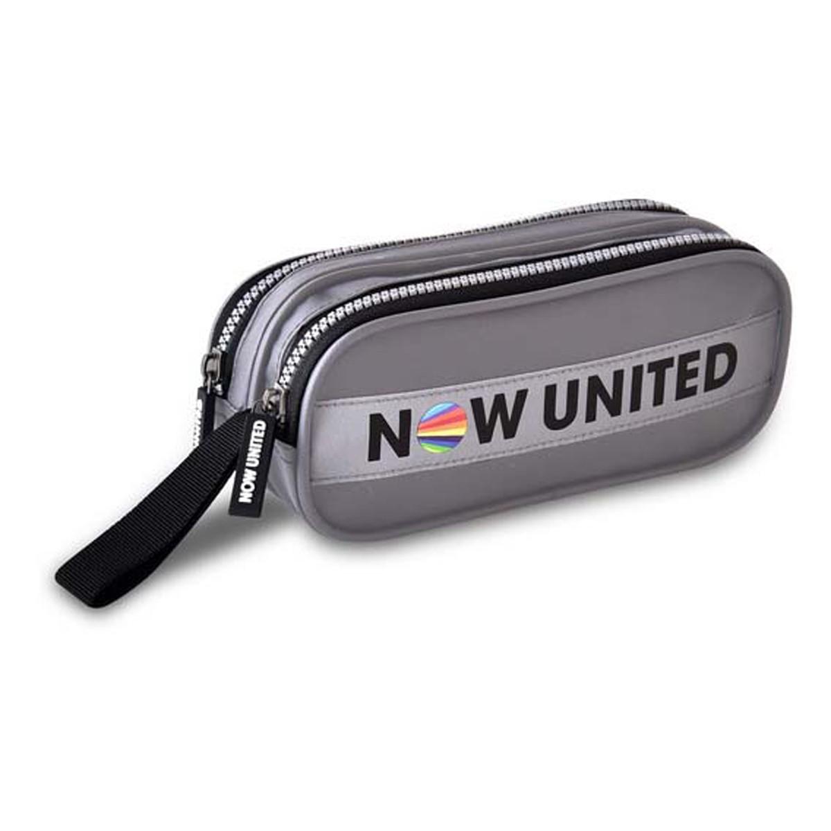 Estojo Escolar C/ 2 Divisórias Cinza Now United Oficial Clio