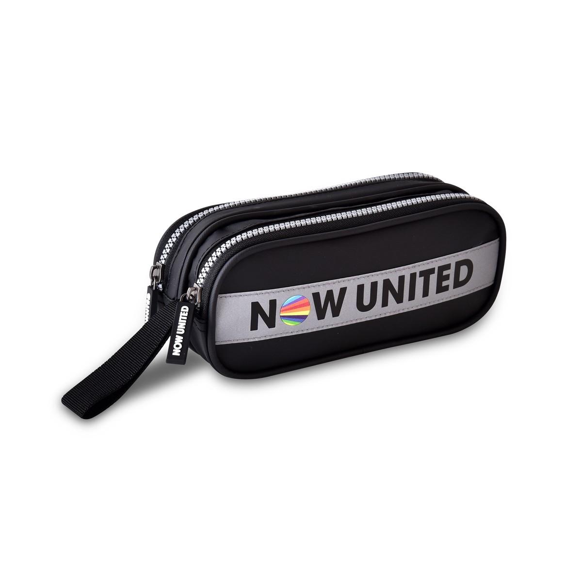 Estojo Escolar C/ 2 Divisórias Preto Now United Oficial Clio