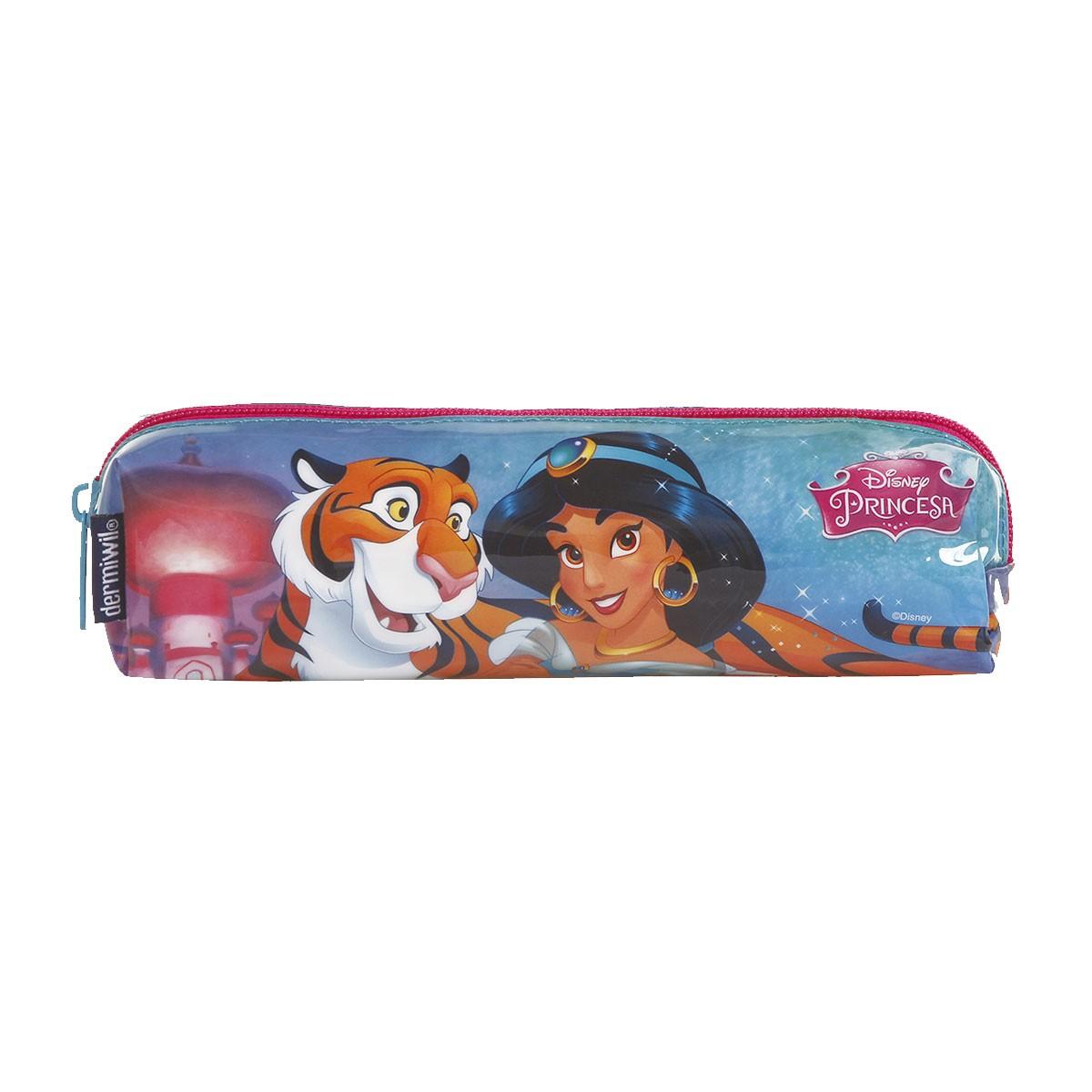 Estojo Soft 1 Divisão Princesa Jasmine Oficial Disney
