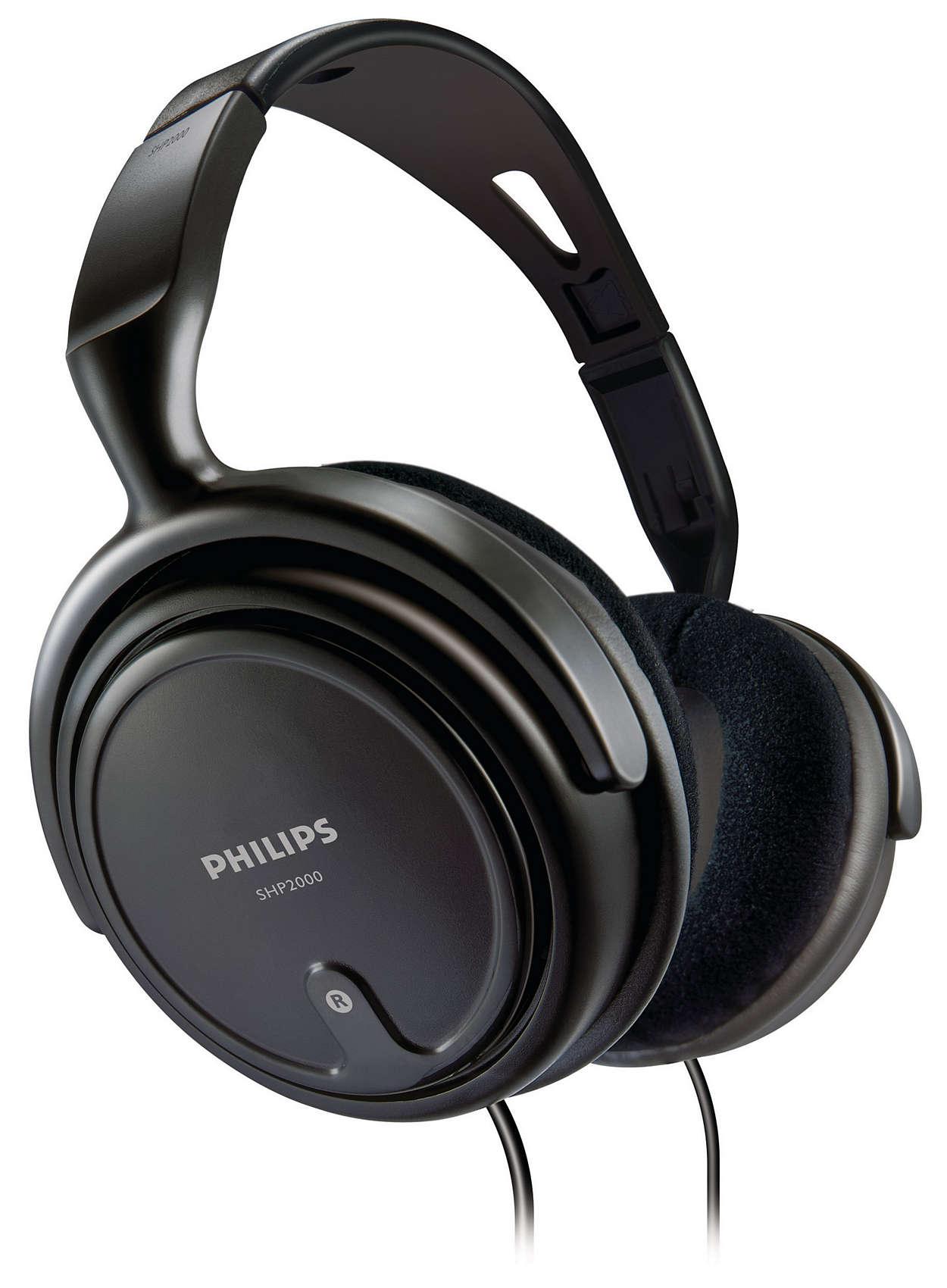 Fone de Ouvido Philips SHP2000/10 Preto Super Conforto
