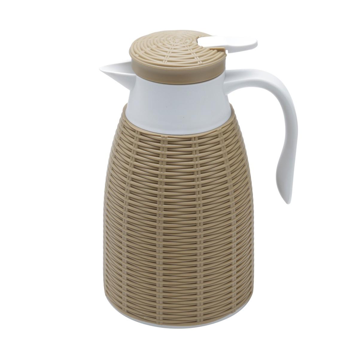 Garrafa Térmica C/ Rattam De Plástico Tress Lyor 1Lt