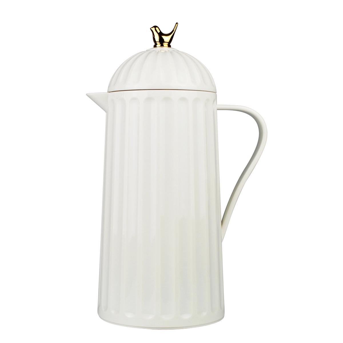 Garrafa Térmica De Plástico Bird Branca 1l Bon Gourmet