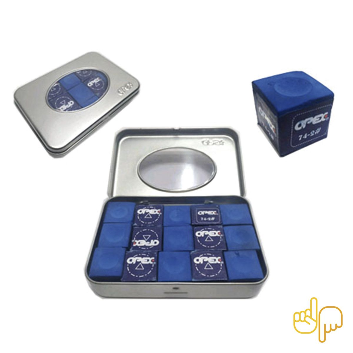 Giz Apex Profissional para Taco de Sinuca Bilhar Snooker Azul c/15 un