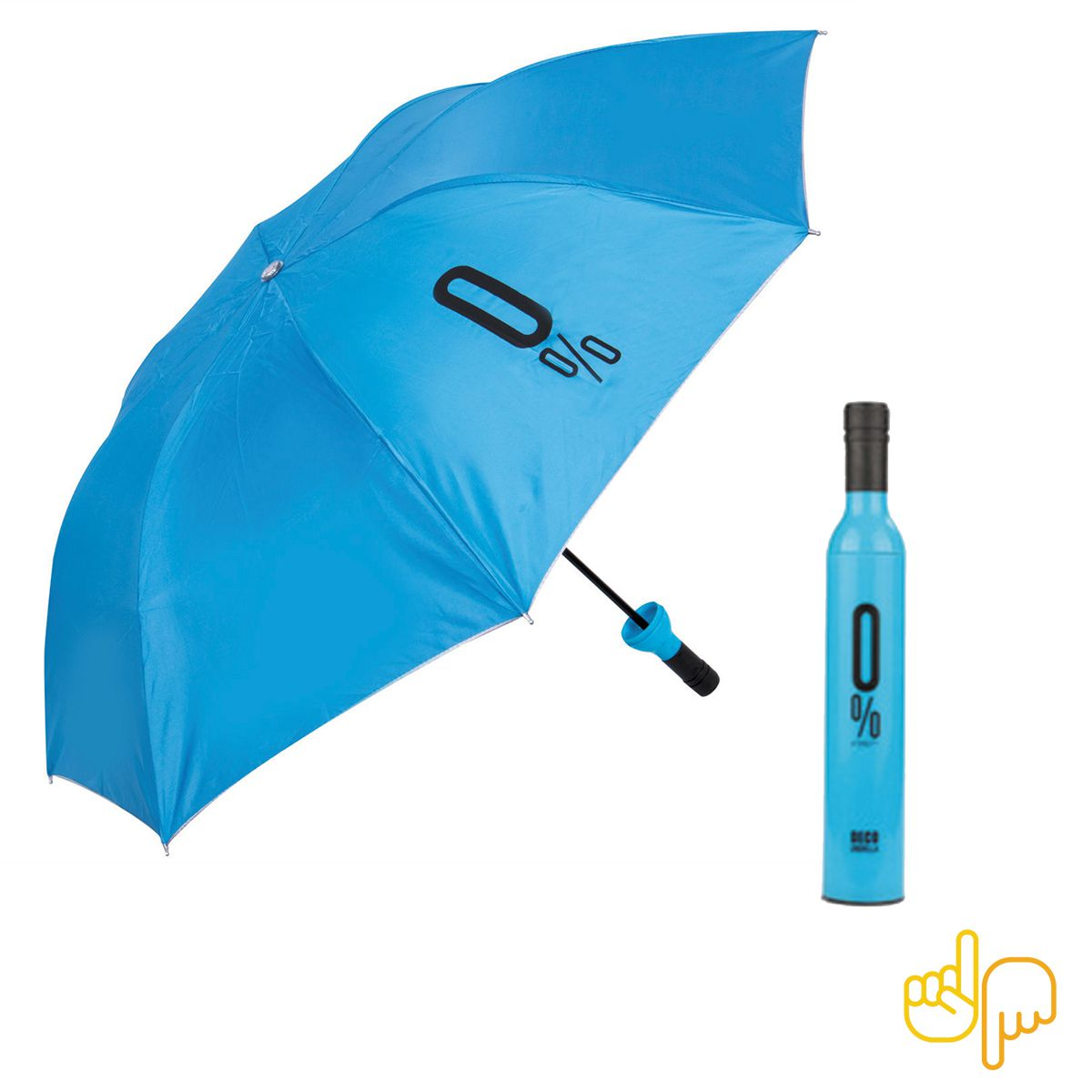 Guarda Chuva Garrafa De Vinho cor Azul