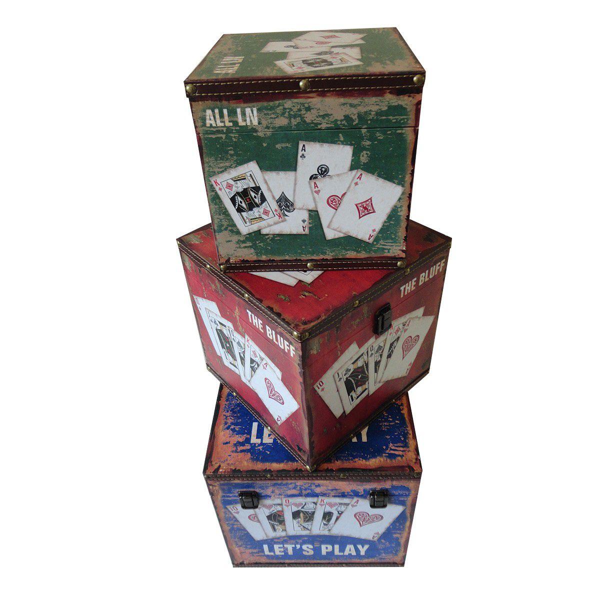 Kit Com 3 Caixas Organizadora mod. The Bluff