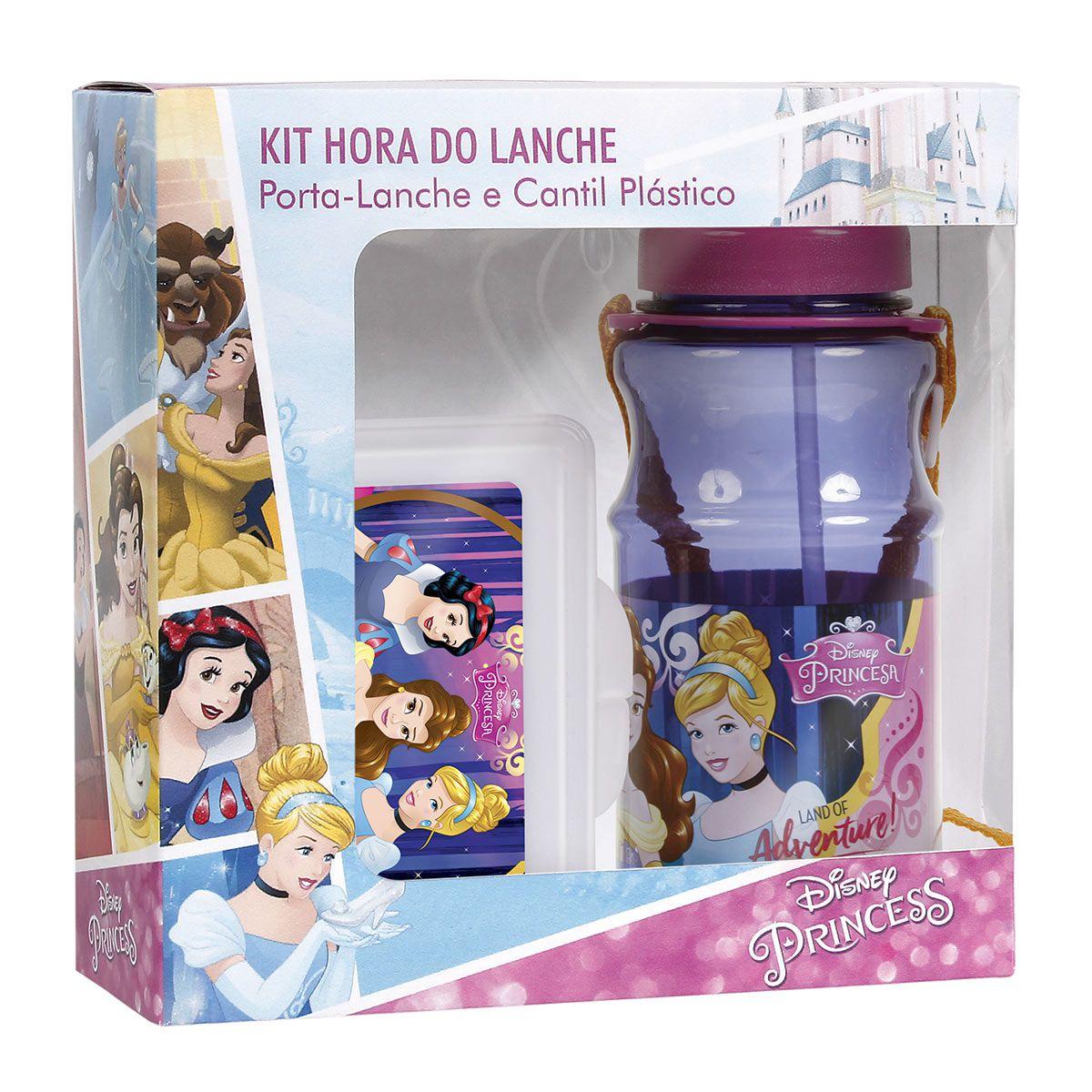 Kit Cantil + Porta-Lanche Princesas Oficial Disney 37490