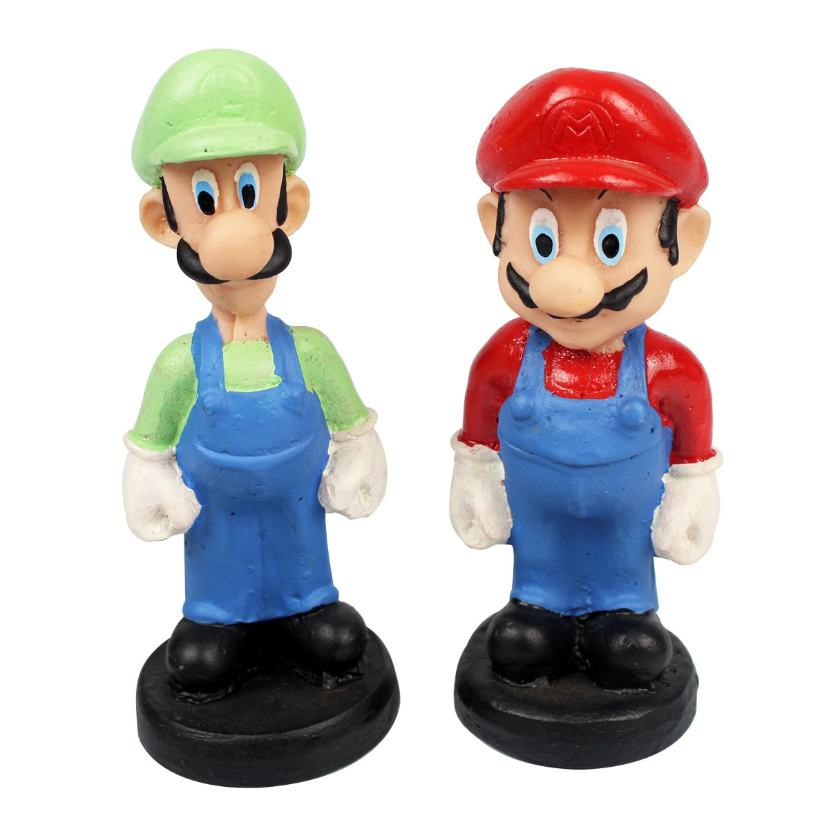 Kit Colecionável Em Resina Mario Bross e Luigi