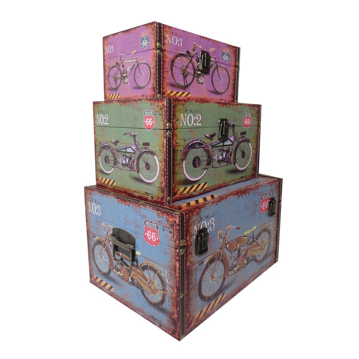 Kit Com 3 Caixas Organizadora mod. Route 66