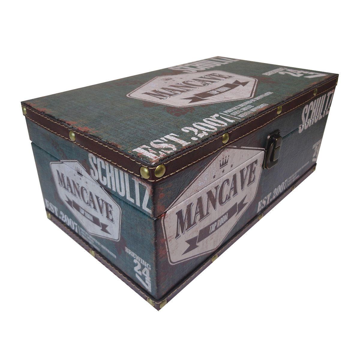 Kit Com 3 Caixas Organizadora revestida em Couro mod. Mancave