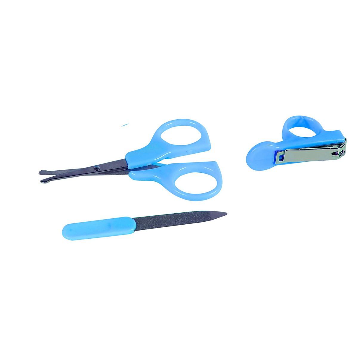 Kit De Higiene Para Unhas Azul BabyGo Premium