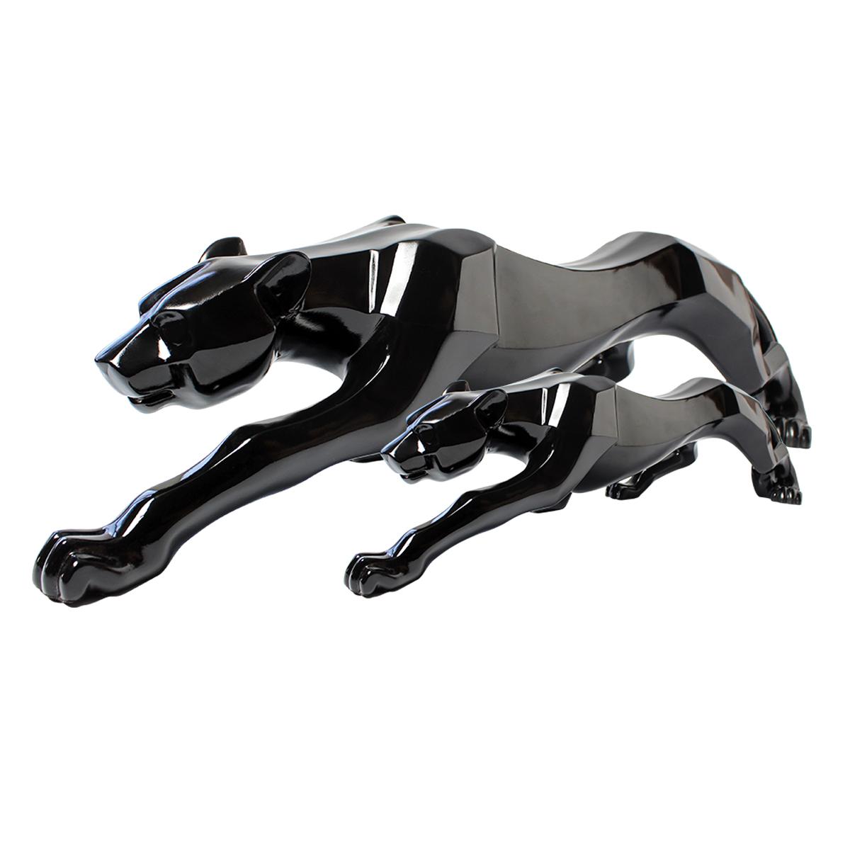 Kit Decor Dual Leopardo De Cerâmica Black Verito