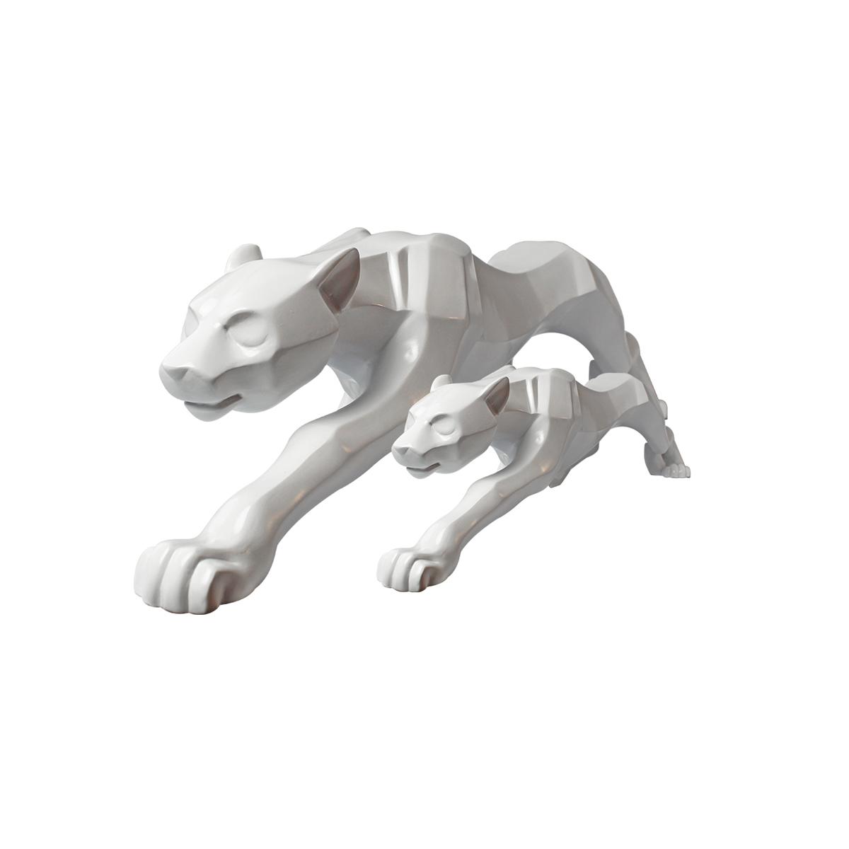Kit Decor Dual Leopardo De Cerâmica White Verito