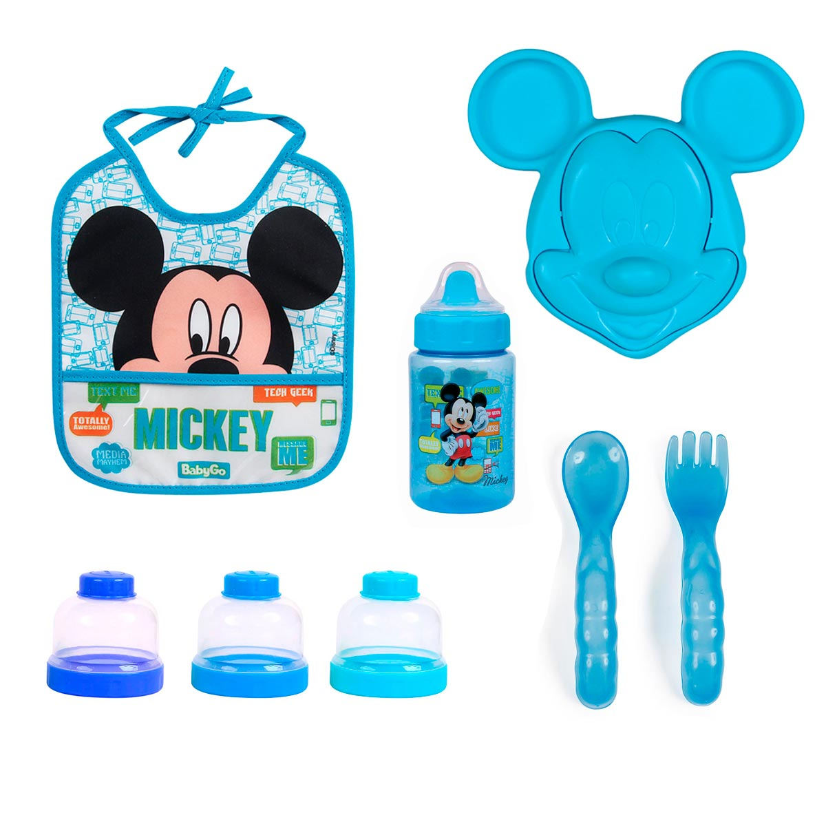 Kit Hora Da Papinha Mickey Mouse Disney