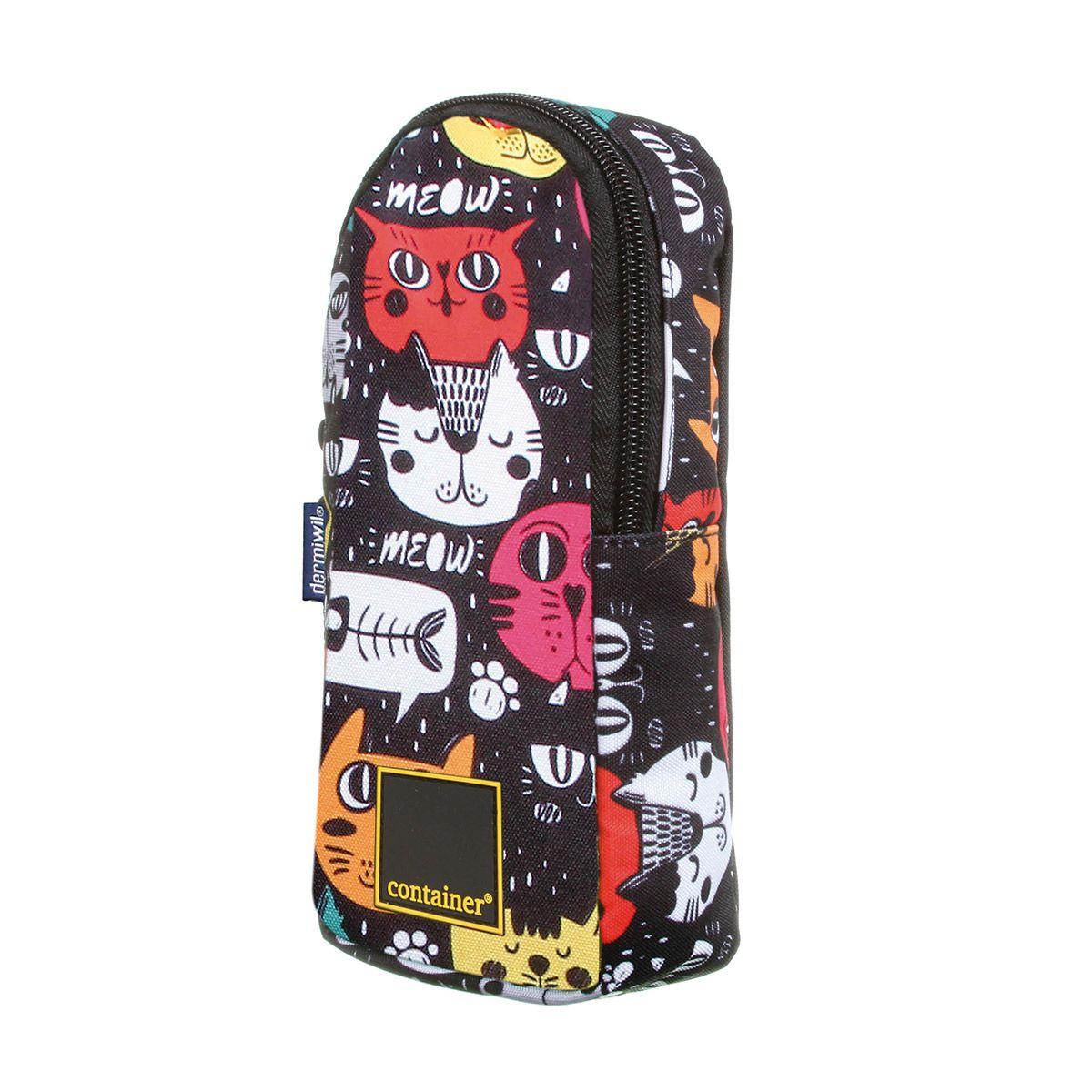 Kit Mochila Escolar Gato Meow - Oficial Container + Estojo