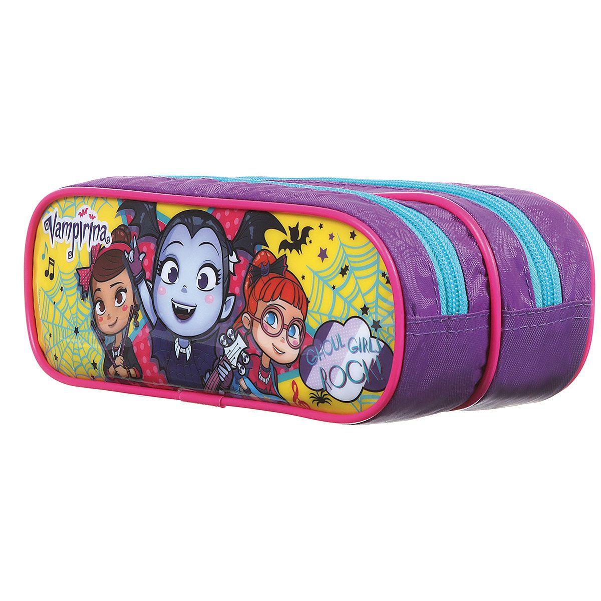 Kit Mochila Escolar Vampirina - Ghoul Girls Rock Disney + Lancheira + Estojo