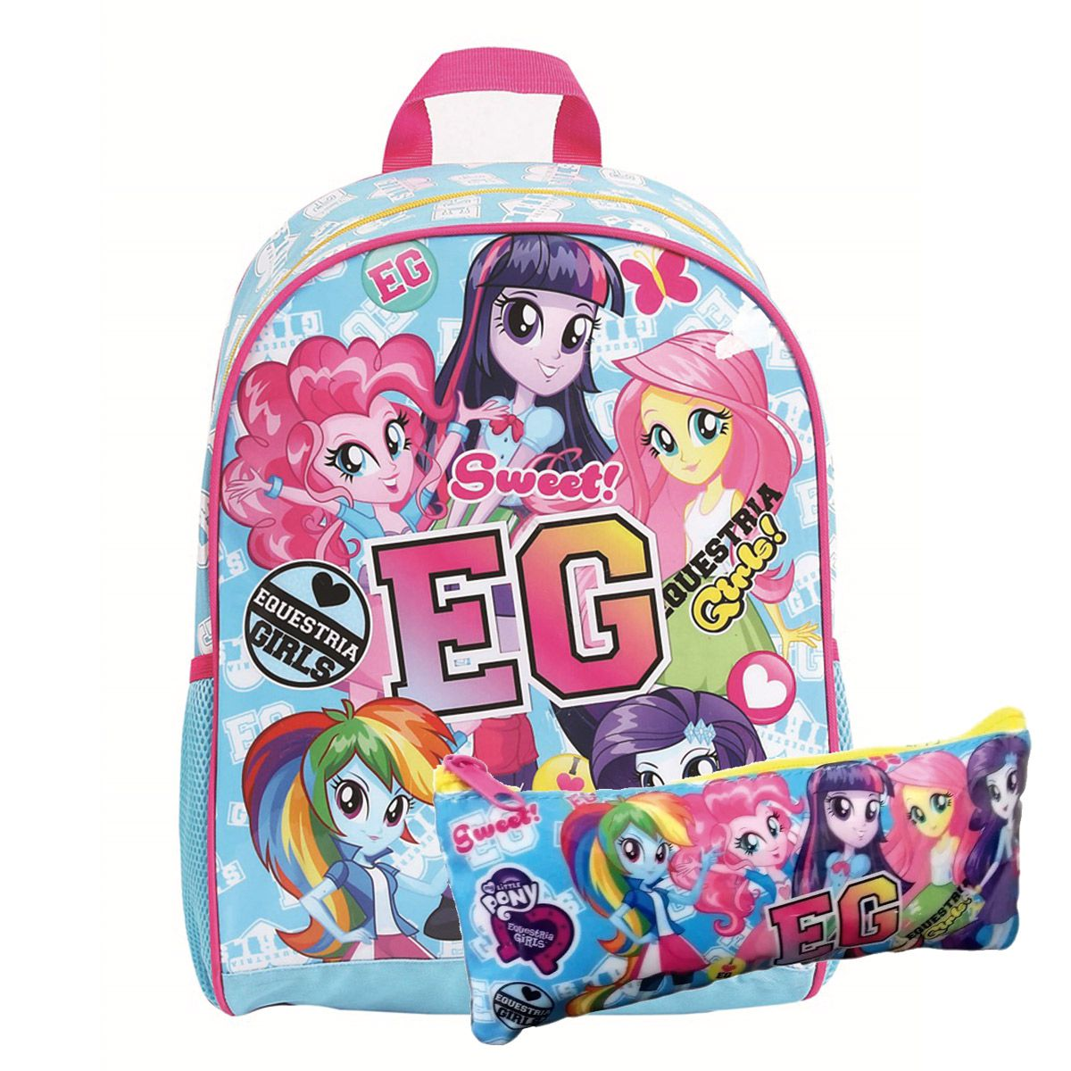 Kit Mochila G My Little Pony Equestria Girls C/ estojo Oficial