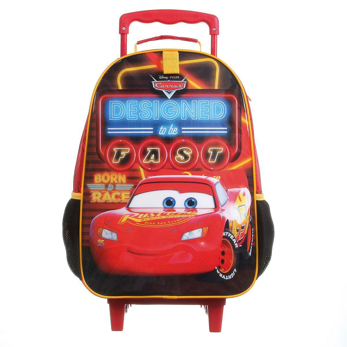 Kit Mochilete Escolar Carros Mcqueen Designed + Lancheira Disney