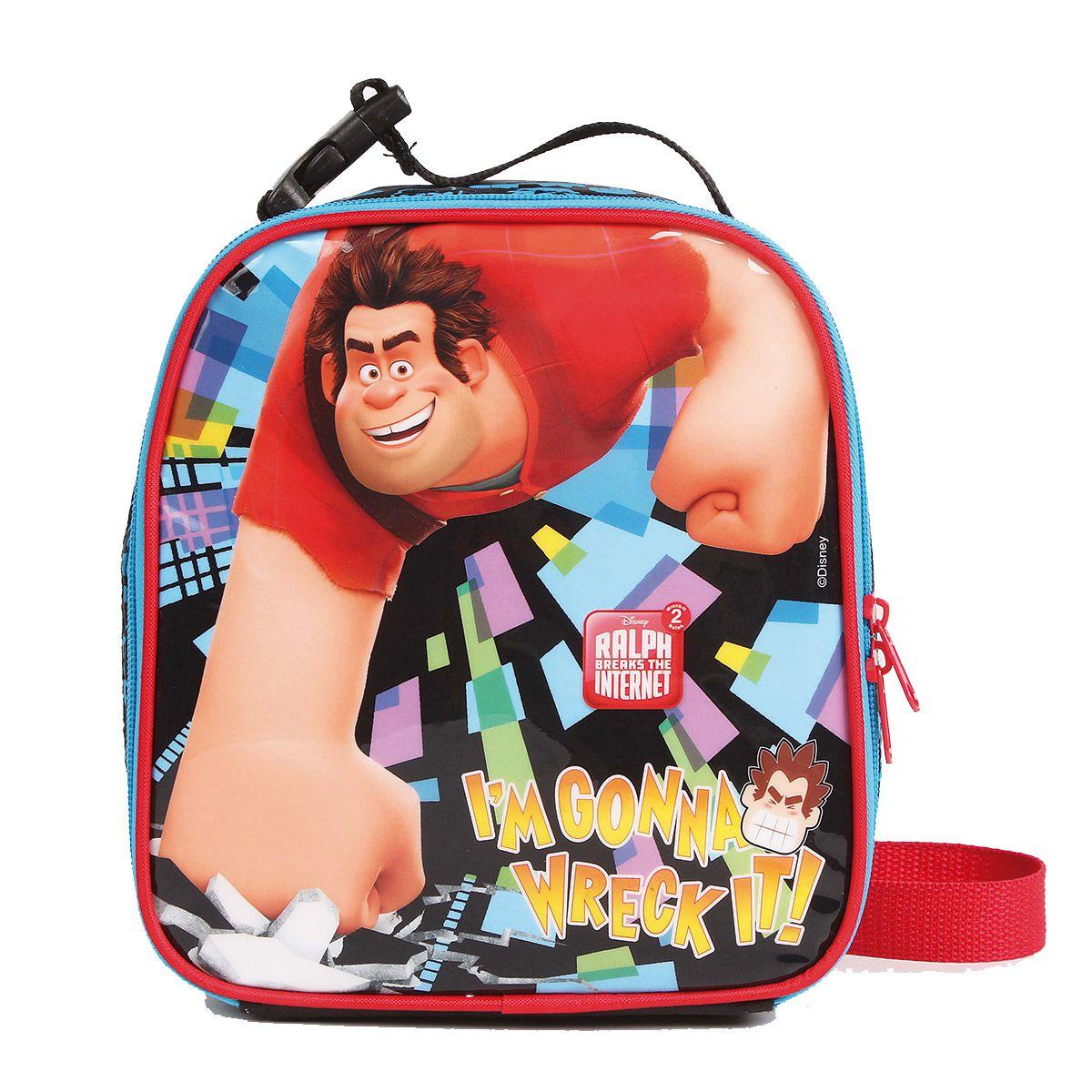 Kit Mochilete Escolar Detona Ralph 2 Oficial Disney + Lancheira + Estojo