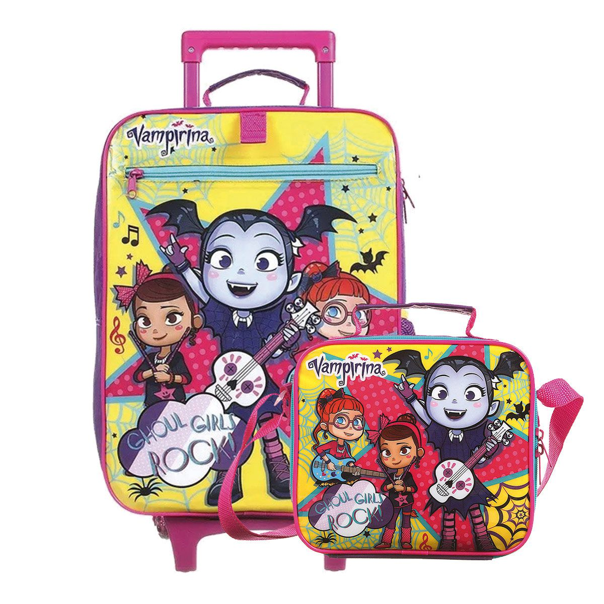Kit Mochilete Escolar Vampirina Ghoul Girls Rock Disney + Lancheira