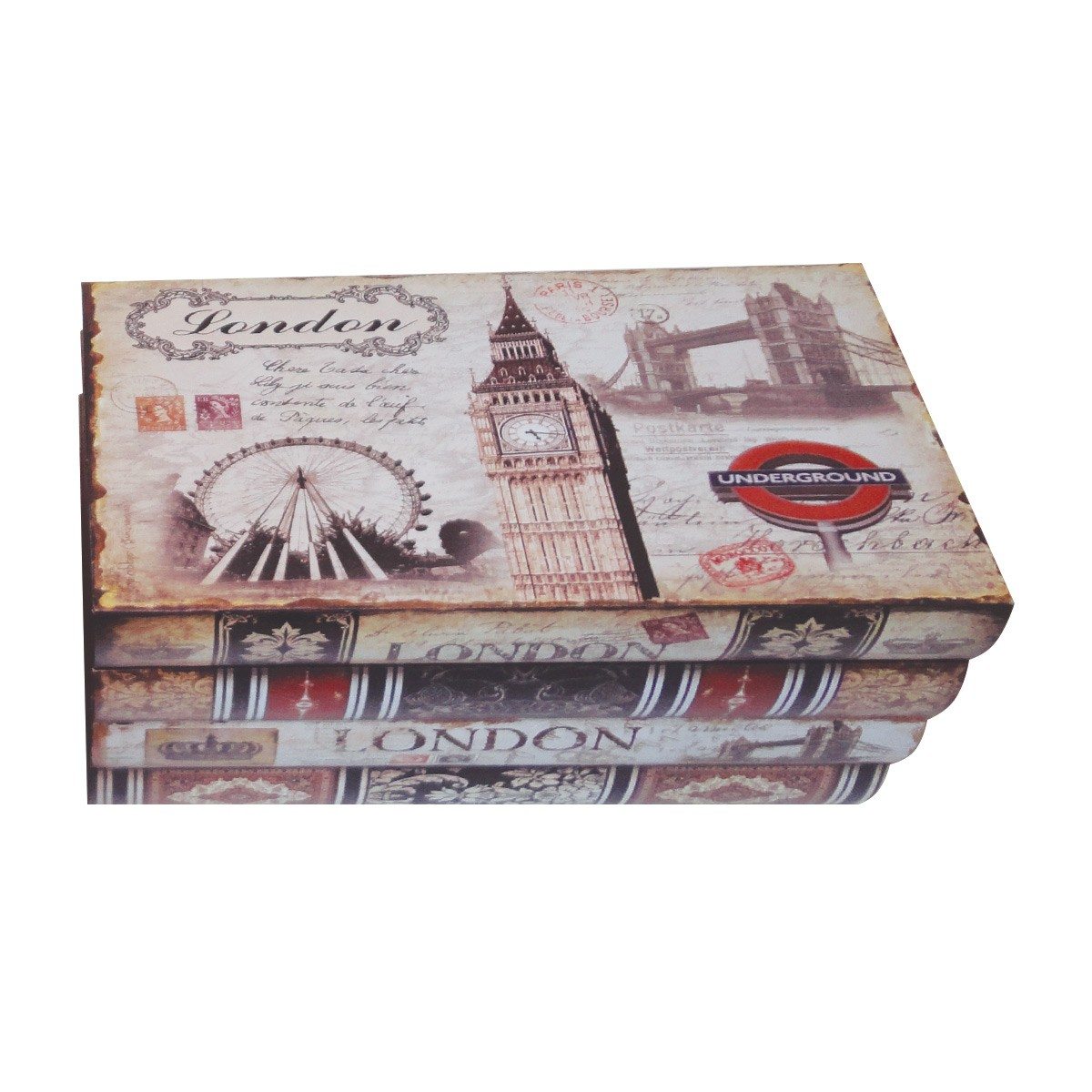 Kit Com 2 Caixa Organizadora mod. London & Paris