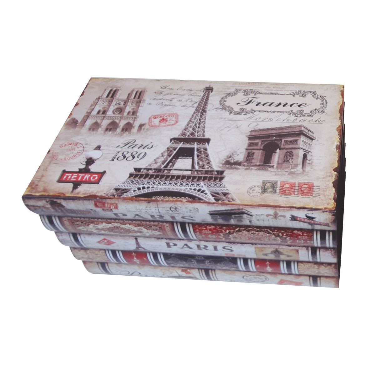 Kit Com 2 Caixas Organizadora mod. London & Paris