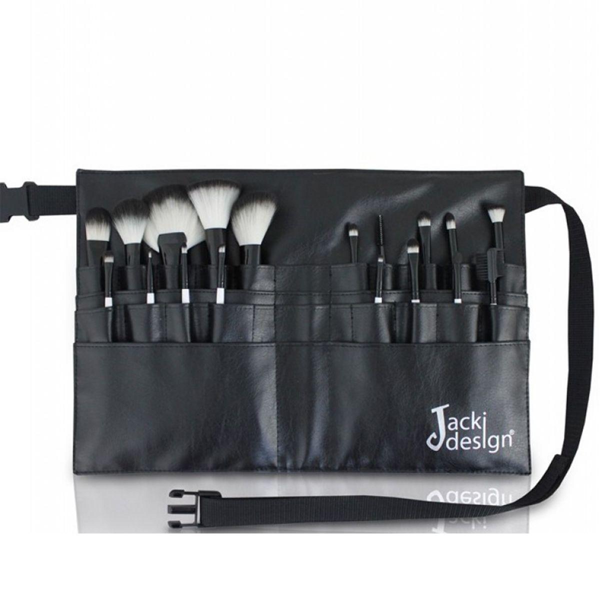 Kit Top Maquiagem 18 Pincéis Profissionais Com Cinto