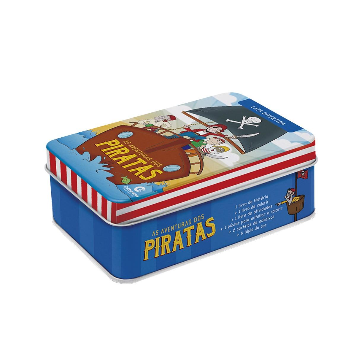 Lata De Livros Divertida As Aventuras Dos Piratas
