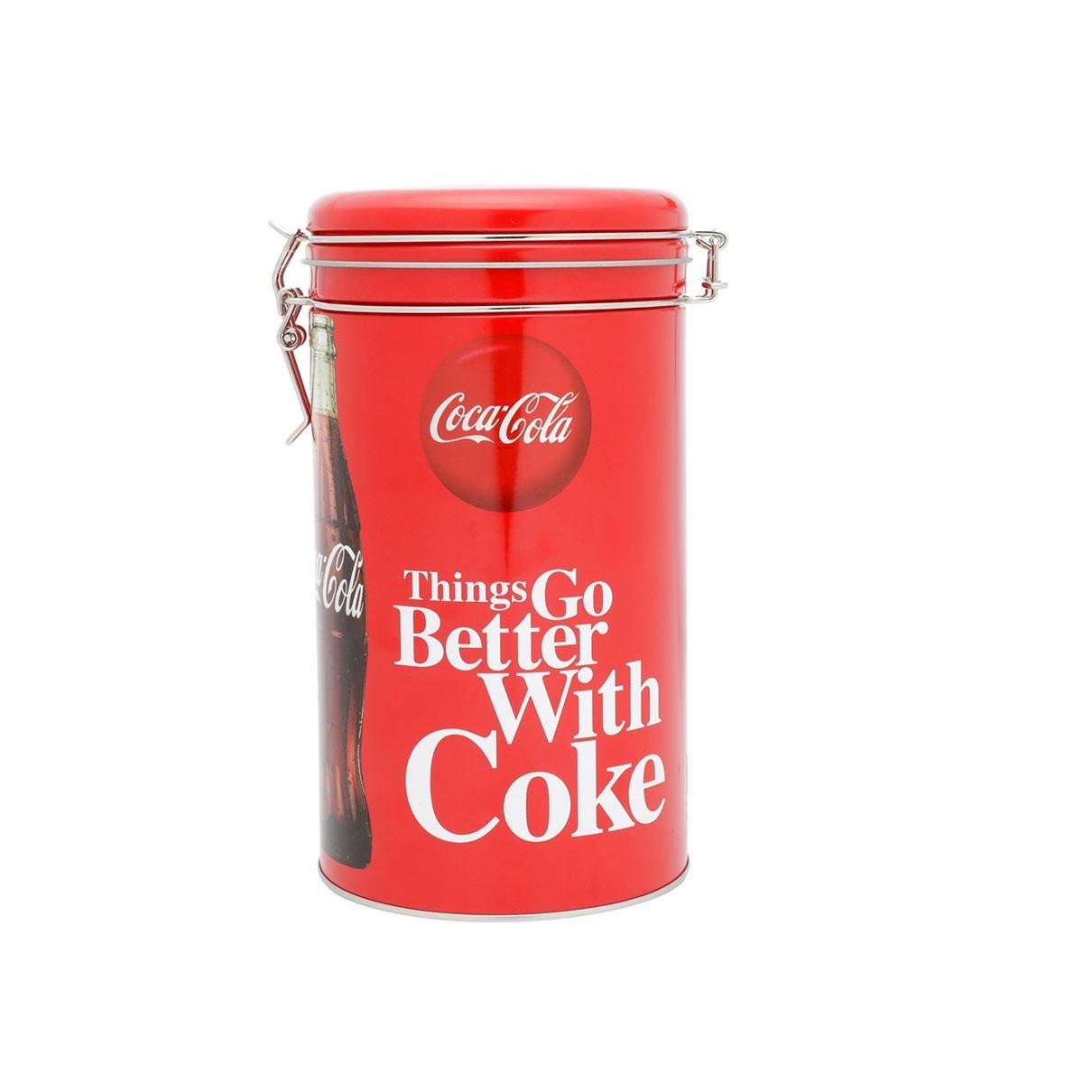 Lata De Metal Round Clip Lid Coca Cola Better With Coke Urban