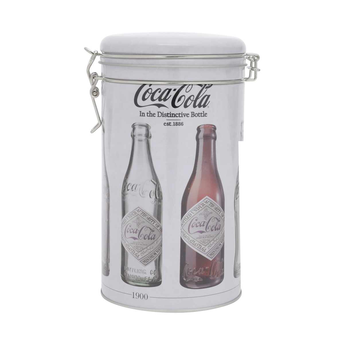 Lata De Metal Round Clip Lid Coca-Cola Bottles Evolution Urban