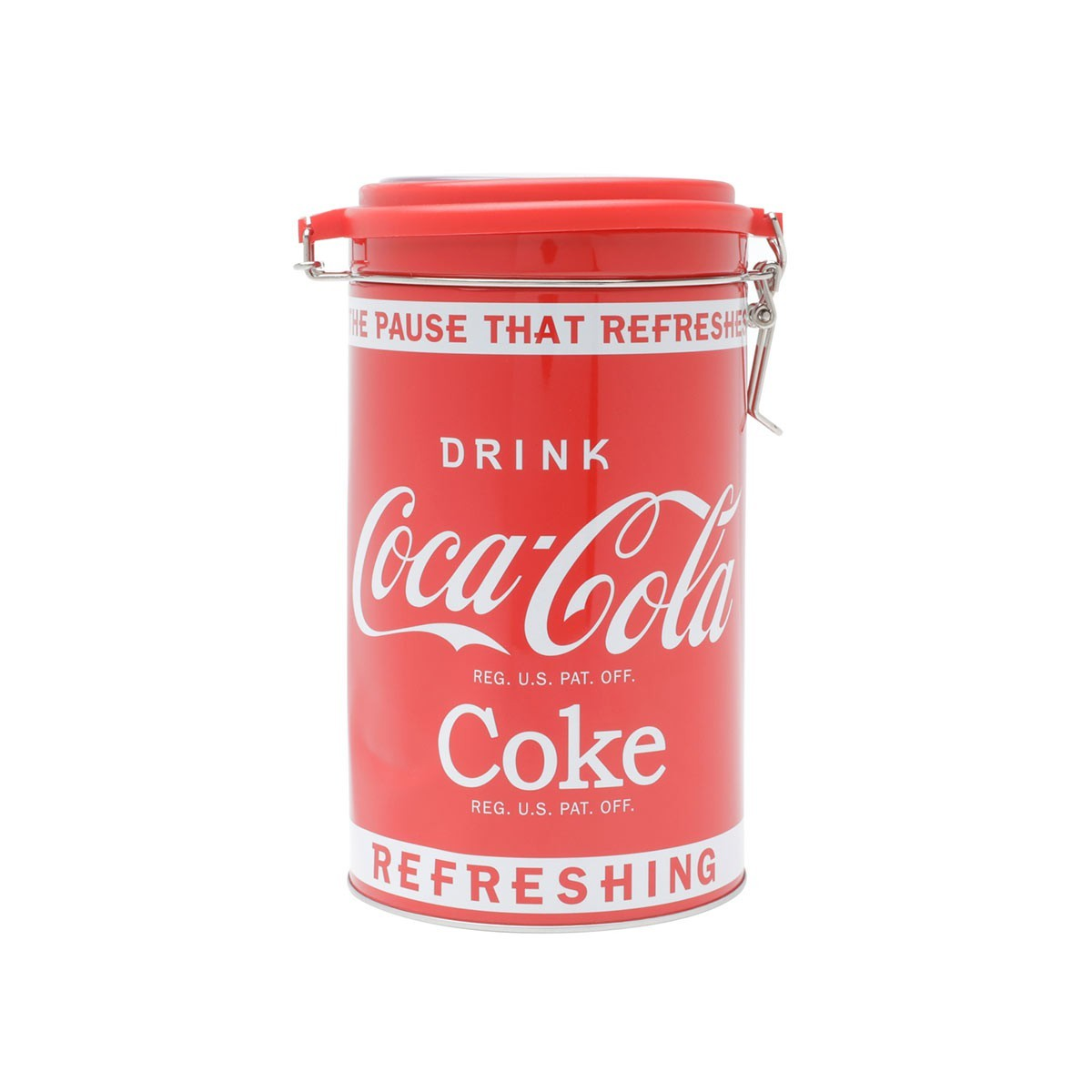 Lata De Metal Round Glass Lid Coca Cola Urban