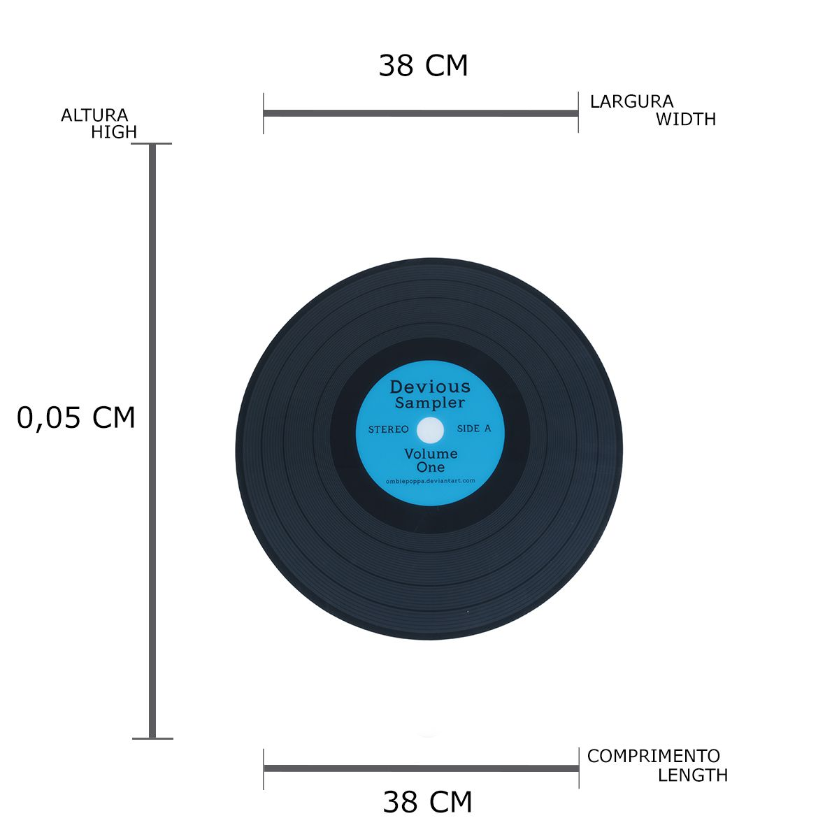 Lugar Americano Pet Vinyl LP Azul 38 x 38 x 0,5 cm - Urban