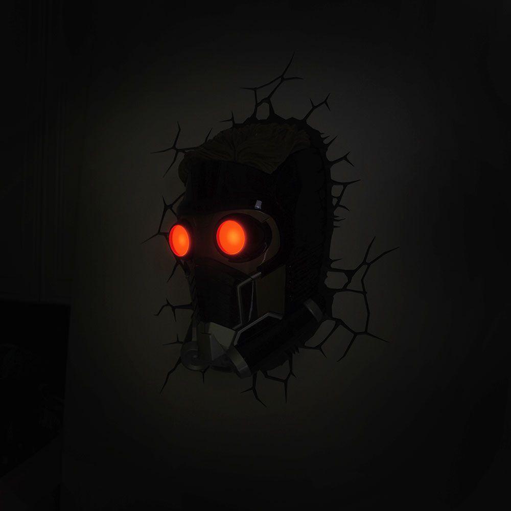 Luminária 3D Light FX Star-Lord Guardiões da Galáxia Oficial