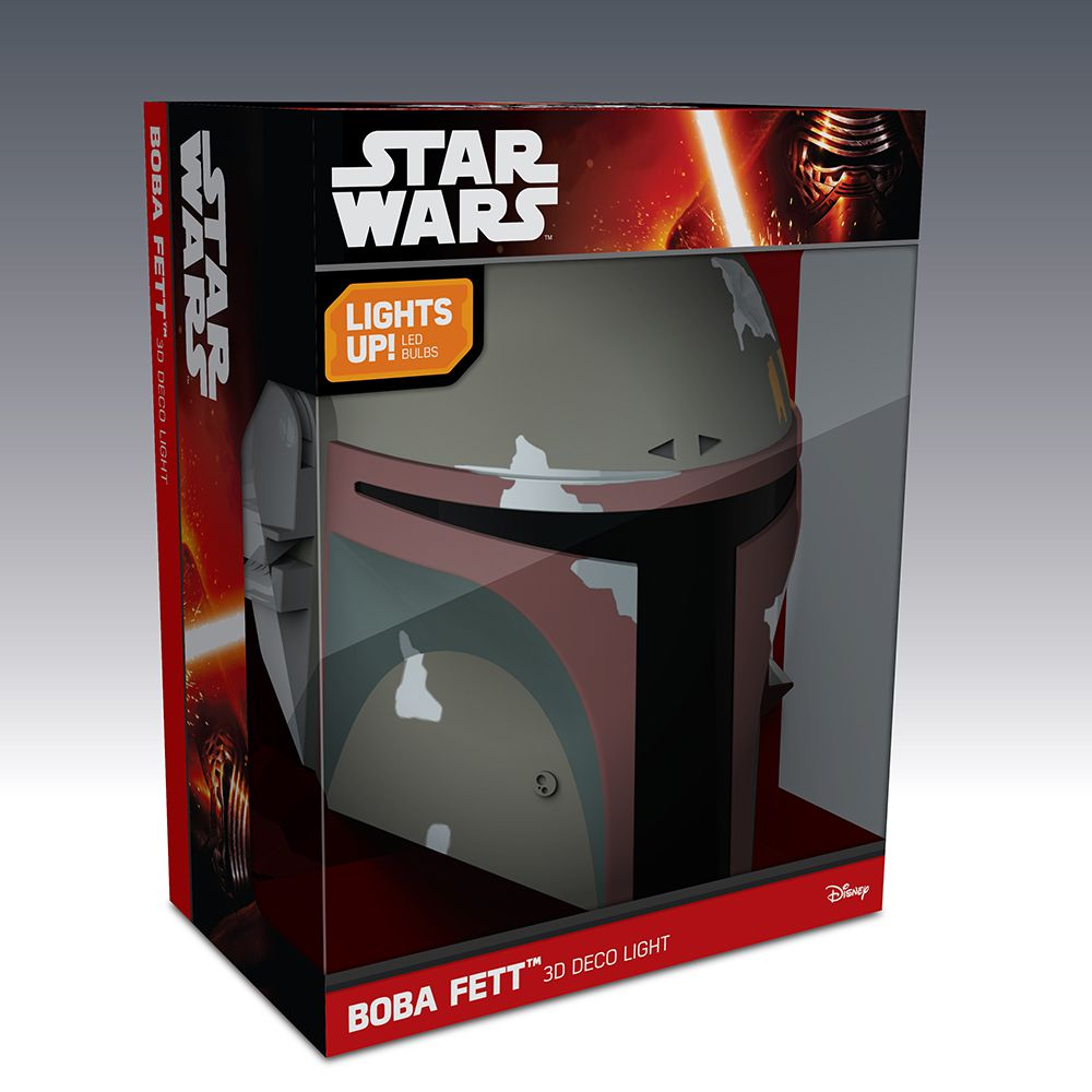 Luminária 3D Light FX Star Wars Boba Fett