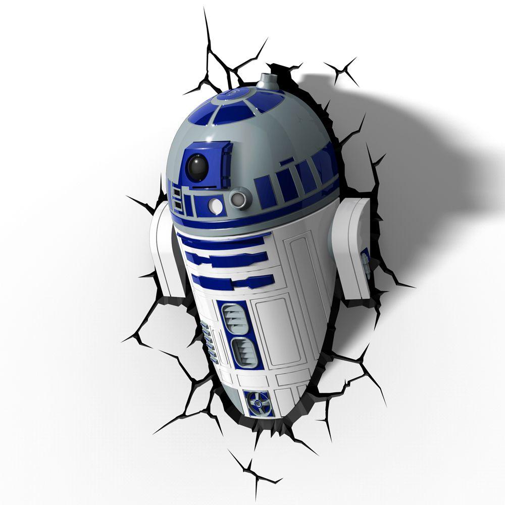 Luminária 3D Light FX Star Wars R2-D2
