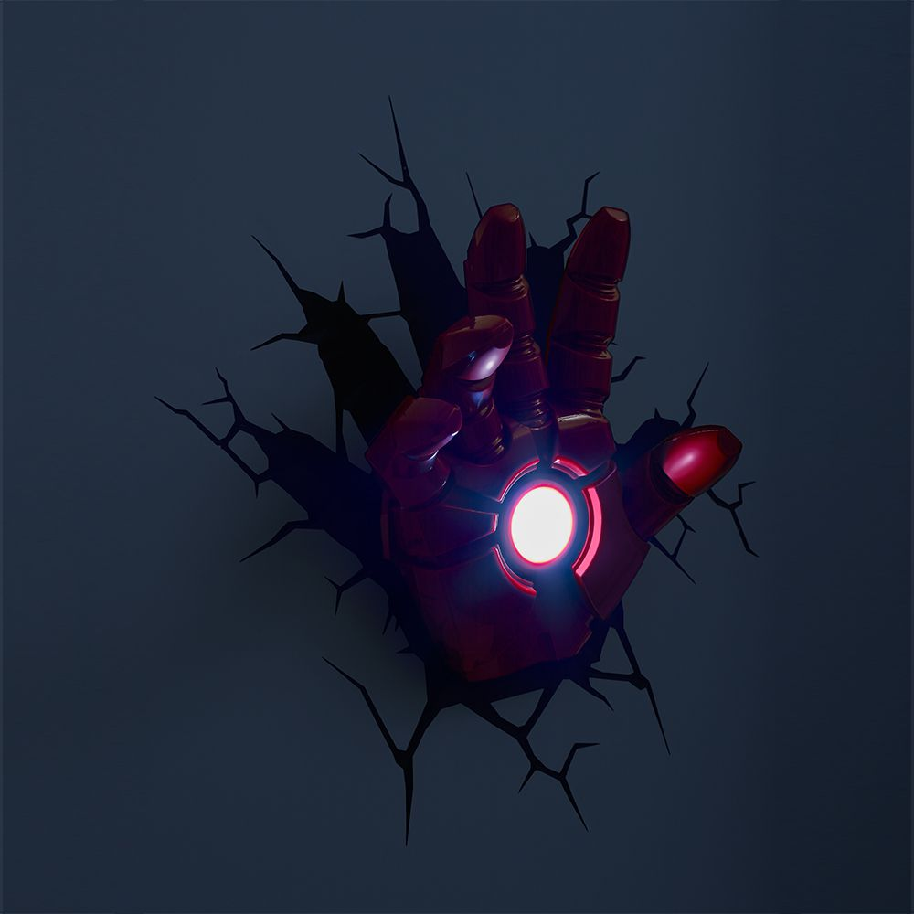 Luminária 3D Light FX Vingadores Mão Homem de Ferro