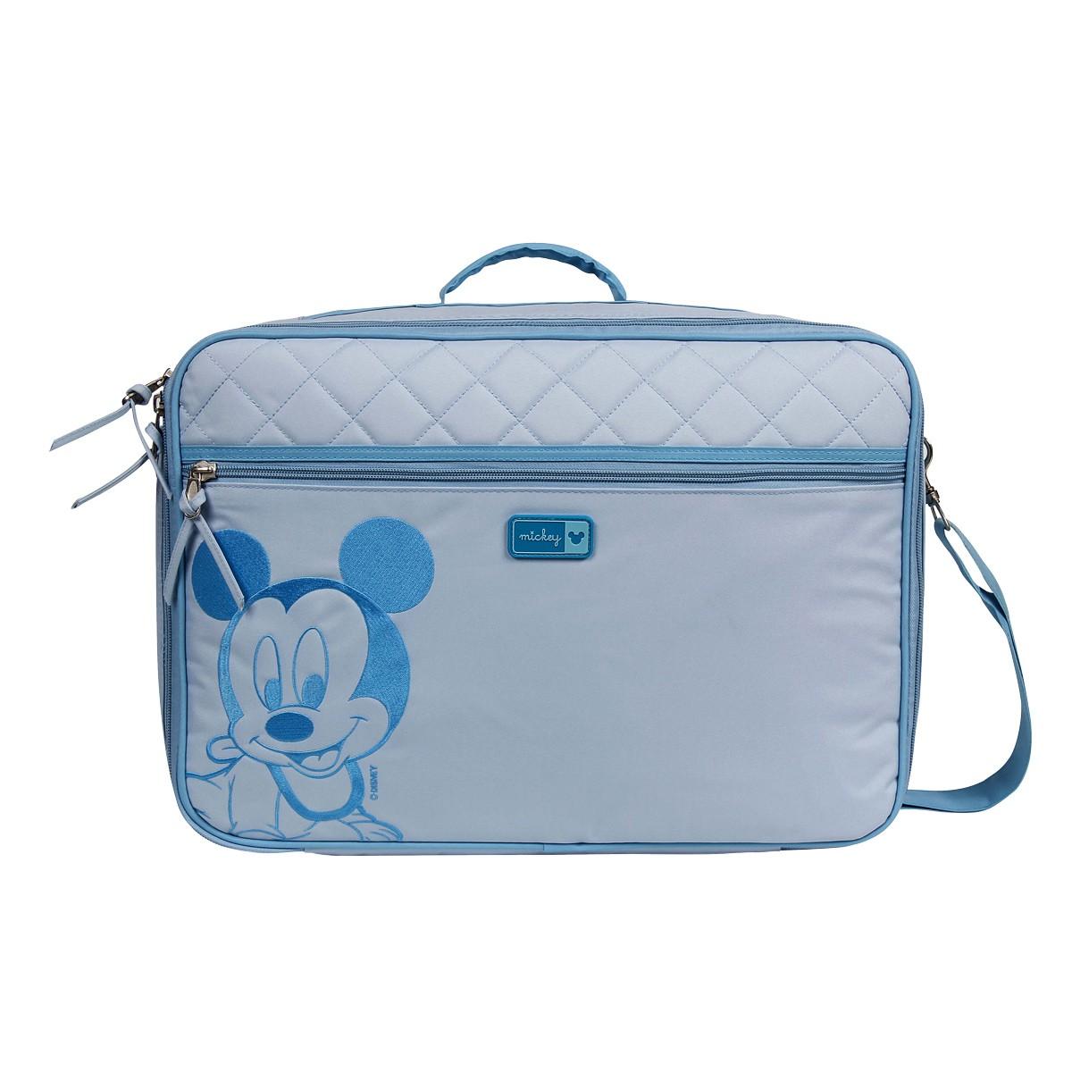 Mala Maternidade Luxo Mickey Mouse Disney Azul C/ Trocador