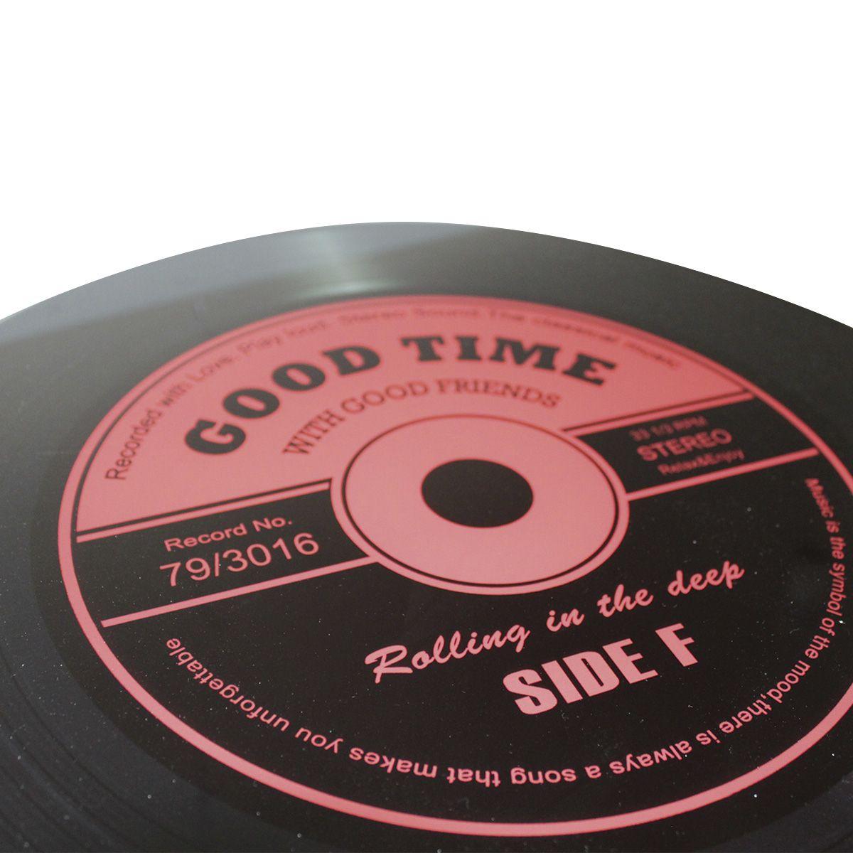 Mesa de Apoio Modelo LP - Vinil Good Time Red 40x40x40cm