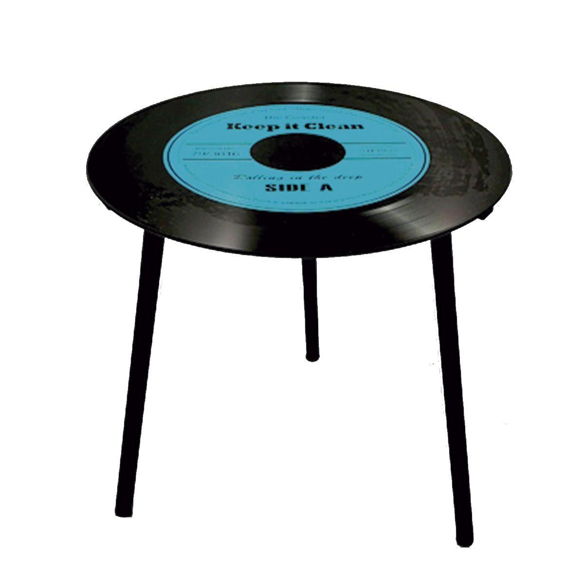 Mesa de Apoio Modelo LP - Vinil Keep it Clean Blue 40x40x40cm