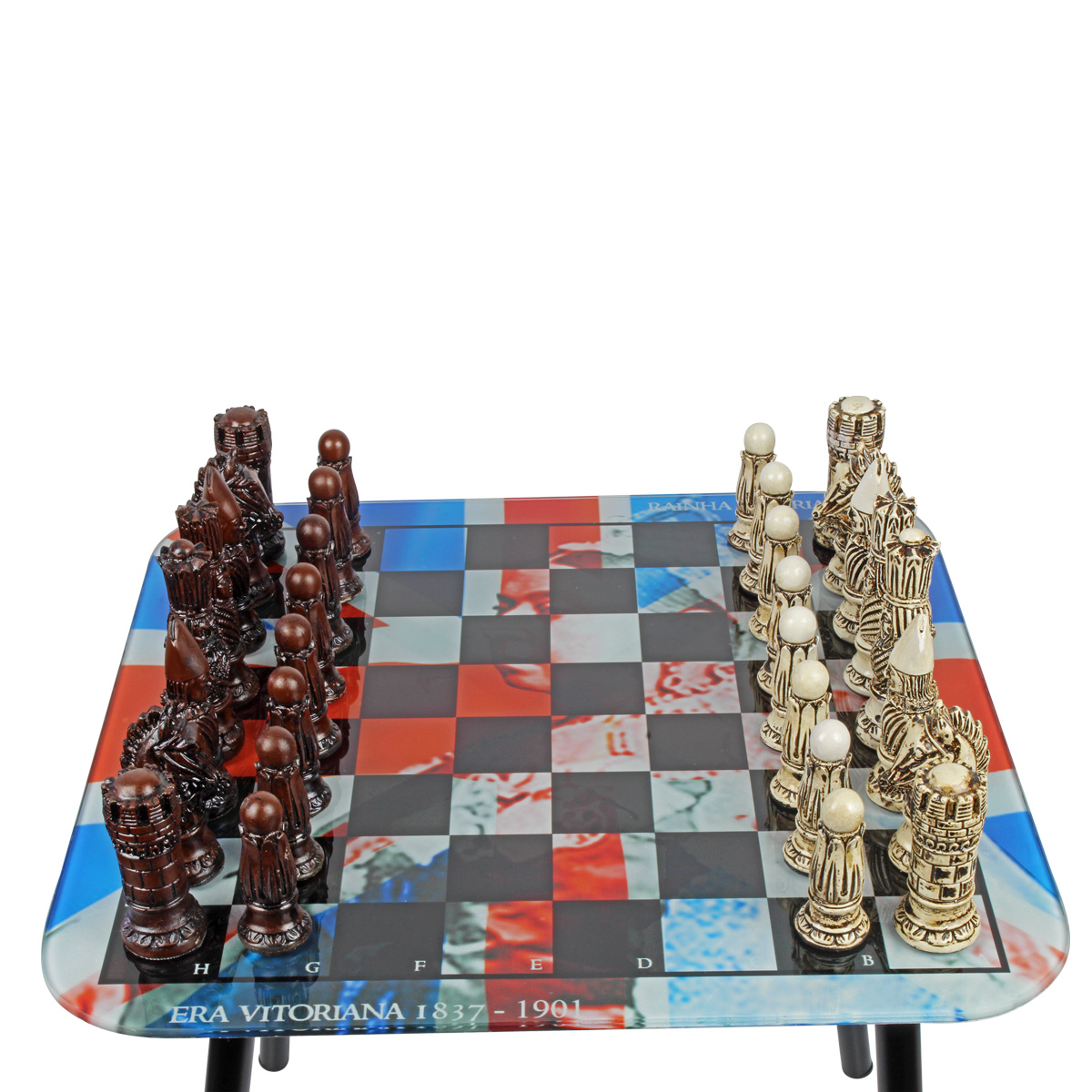 Tabuleiro de Xadrez + 32 Peças Exclusivas Era Vitoriana
