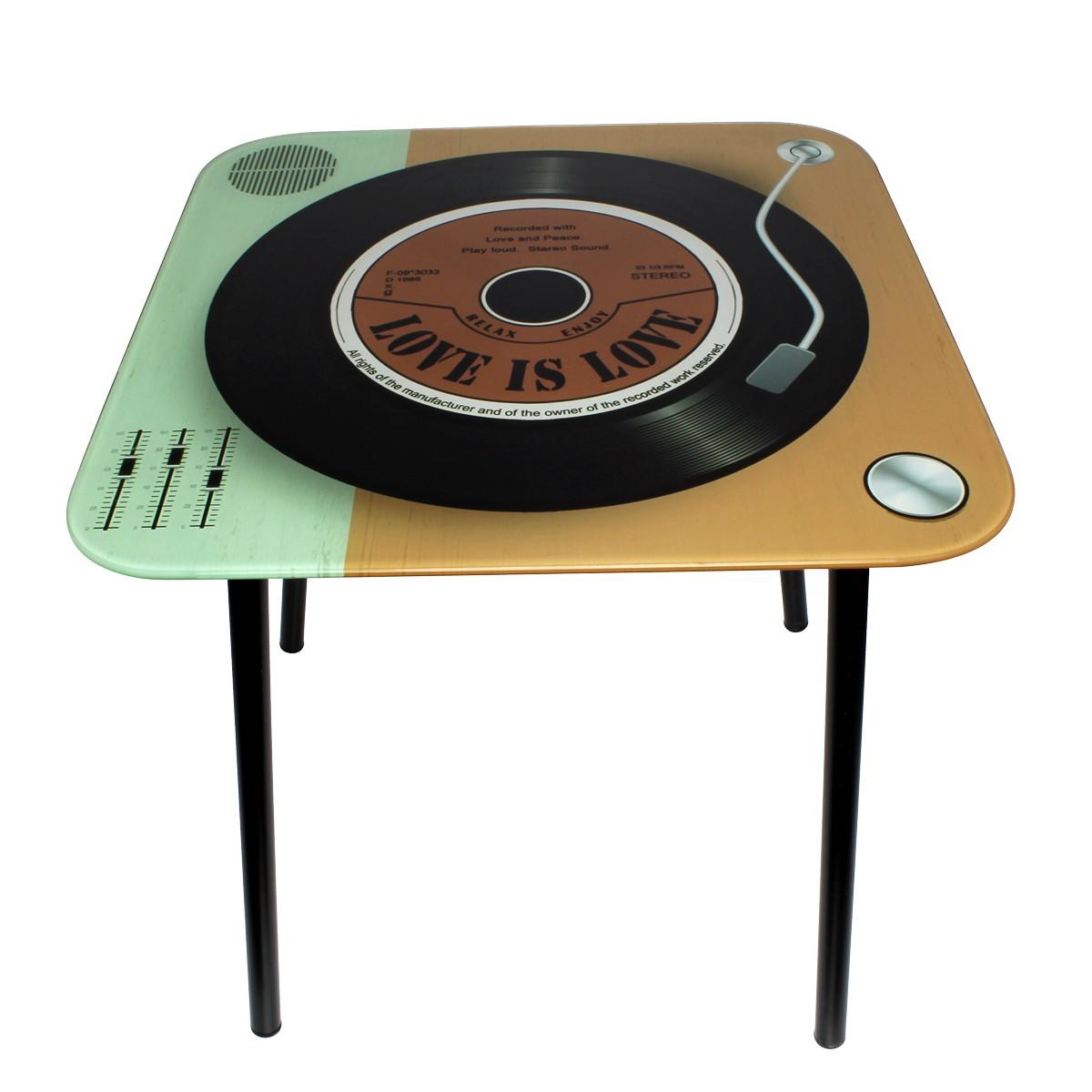 Mesa de Canto Quadrada Vintage Relax Enjoy 40x40x40cm