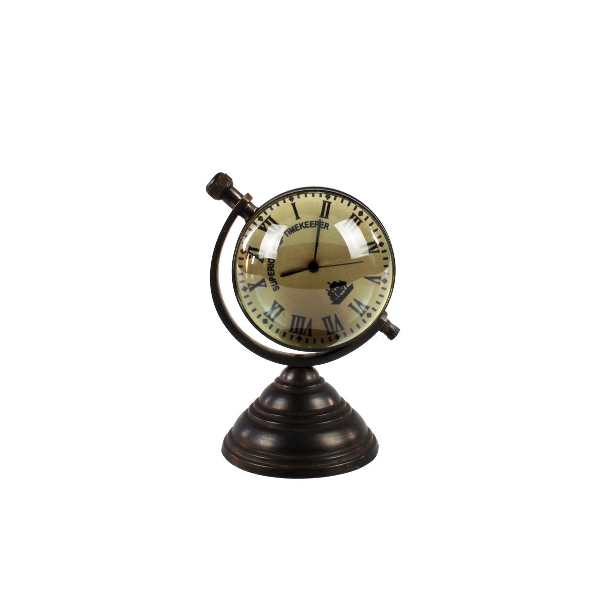Mini Relógio De Mesa De Metal Náutico Superior Ship Timekeeper