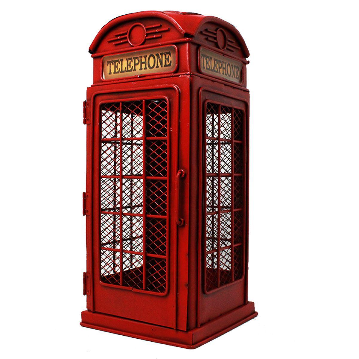 Miniatura de Metal Cabine Telefônica de Londres Retrô