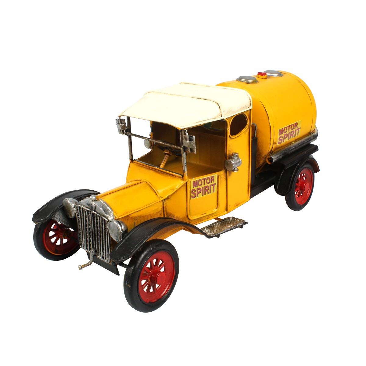 Miniatura de Metal Caminhão Tanque Motor Spirit Amarelo
