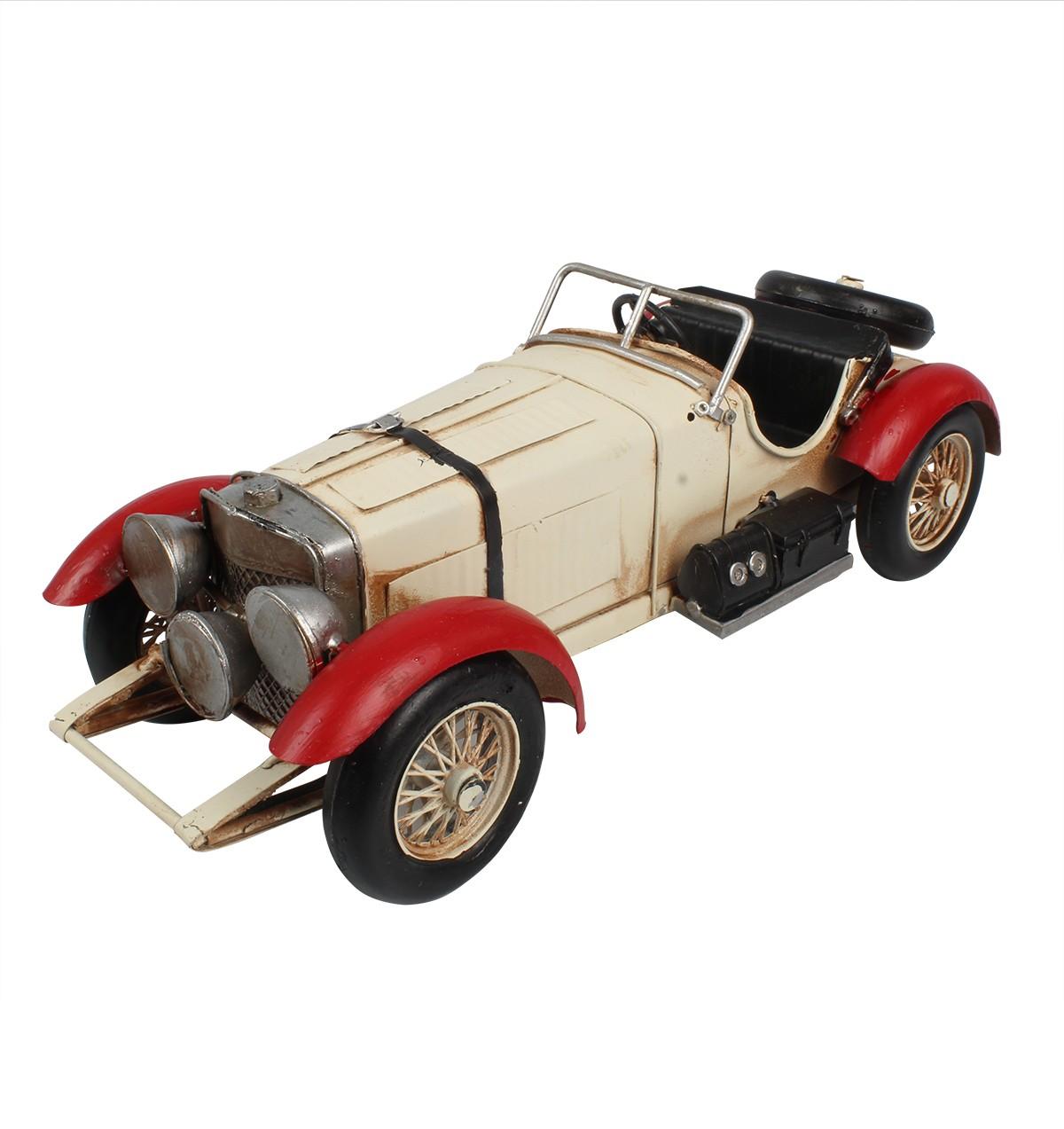 Miniatura de Metal Retrô Mercedes Benz SSK 1927